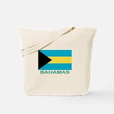 Bahamian Flag (labeled) Tote Bag