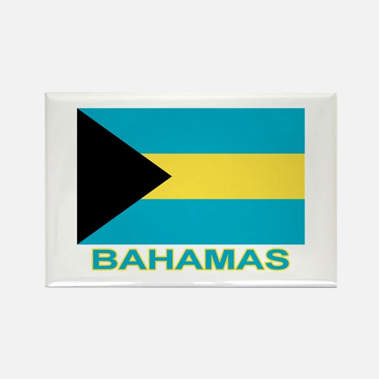 Bahamian Flag (labeled) Rectangle Magnet