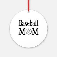 """Baseball Mom"" Ceramic Ornament"