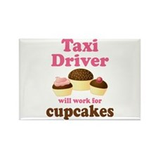 Funny Taxi Driver Rectangle Magnet