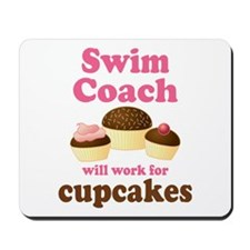 Funny Swim Coach Mousepad