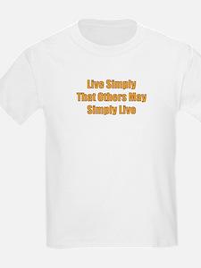 Live Simply Kids T-Shirt