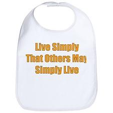 Live Simply Bib