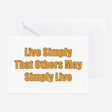Live Simply Greeting Cards (Pk of 10)