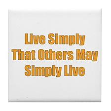 Live Simply Tile Coaster