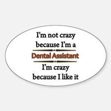 Funny Dental assistant Decal