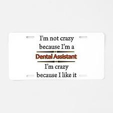 Cute Dental assistant Aluminum License Plate