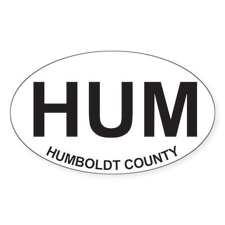 HUM Oval Sticker