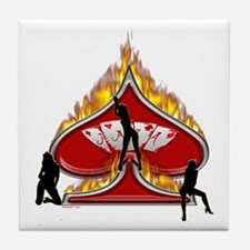 Poker Girls Tile Coaster