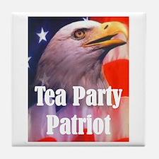 Tea Party Patriot Tile Coaster