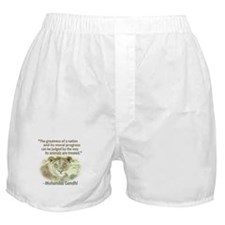 Gandhi Animal Quote ~ Boxer Shorts