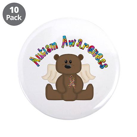 """Autism Awareness Bear 3.5"""" Button (10 pack)"""