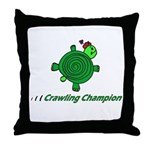 Crawling Champion Throw Pillow