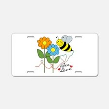Bee Love Aluminum License Plate