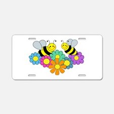 Bees & Flowers Aluminum License Plate