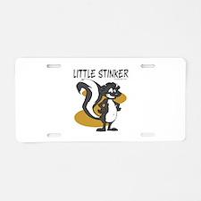 Little Stinker Aluminum License Plate