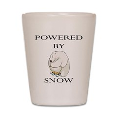 Powered by snow Shot Glass