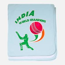 Cricket India Champions baby blanket