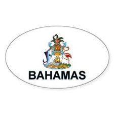 Bahamian Arms (labeled) Decal