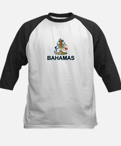 Bahamian Arms (labeled) Kids Baseball Jersey