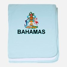 Bahamian Arms (labeled) baby blanket