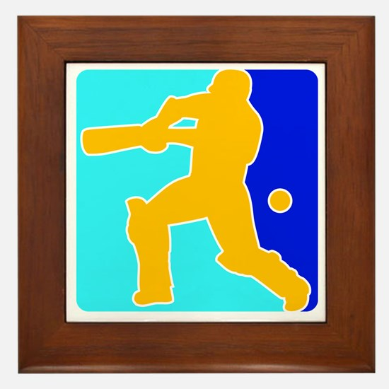 Cricket India Champions Framed Tile