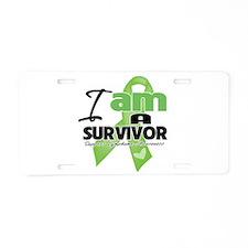 I am a Survivor Lymphoma Aluminum License Plate