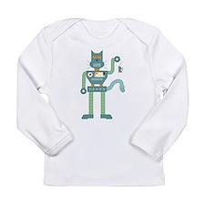 Robot Cat & Mouse Long Sleeve Infant T-Shirt