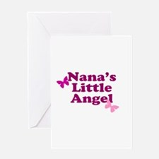 Nana's Little Angel Greeting Card