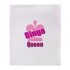 Bingo Queen Throw Blanket