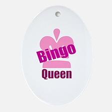Bingo Queen Ornament (Oval)