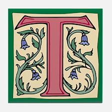 """Garden """"T"""" in Mauve Tile Coaster"""