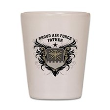 Proud Air Force Father Shot Glass