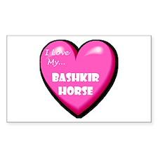 I Love My Bashkir Horse Decal