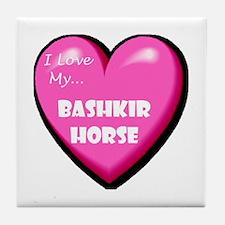 I Love My Bashkir Horse Tile Coaster