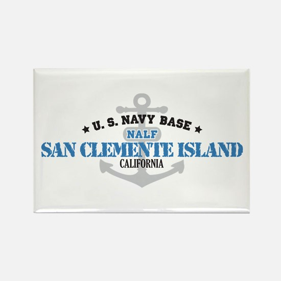 US Navy San Clemente Base Rectangle Magnet (10 pac