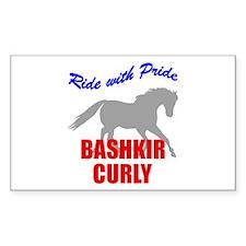 Ride With Pride Bashkir Curly Sticker (Rectangular