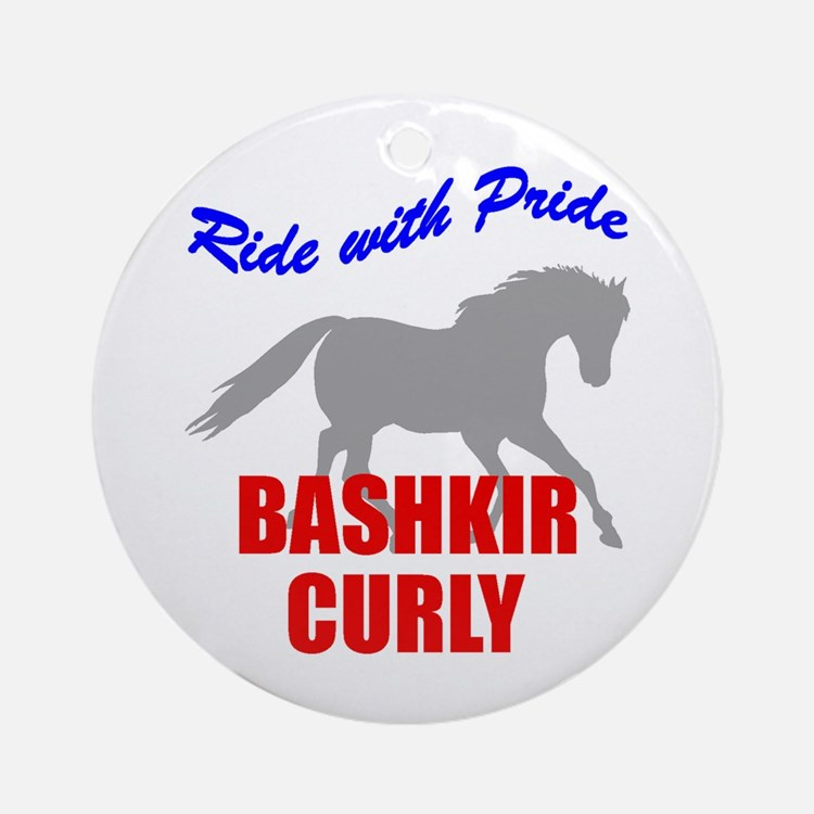 Ride With Pride Bashkir Curly Ornament (Round)