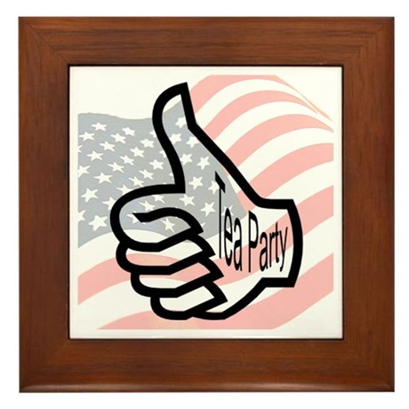 Thumbs Up For The Tea Party Framed Tile