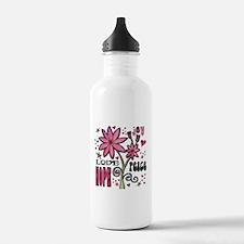 Peace Love Hope Flower Sports Water Bottle