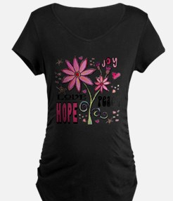 Peace Love Hope Flower T-Shirt