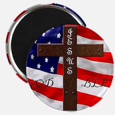 Funny God bless america Magnet