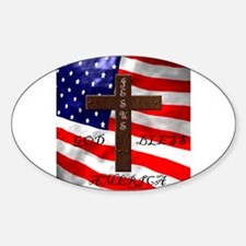 Cute American flag jesus Decal