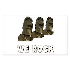 We Rock Easter island Decal