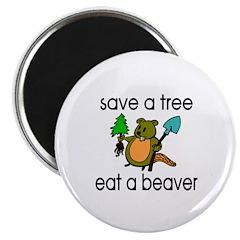 Eat A Beaver Magnet