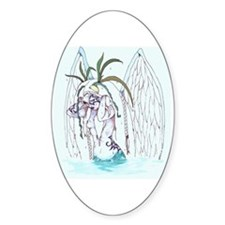Aquatic Deity Oval Decal
