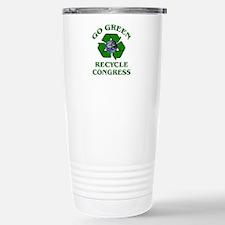 Go Green ~ Stainless Steel Travel Mug