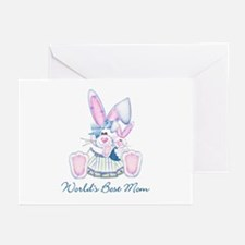 World's Best Mom (bunny) Greeting Cards (Package o