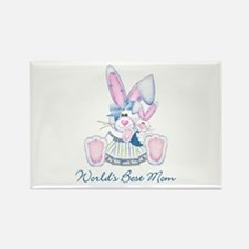World's Best Mom (bunny) Rectangle Magnet (100 pac