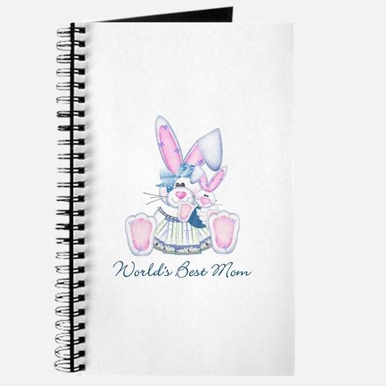 World's Best Mom (bunny) Journal